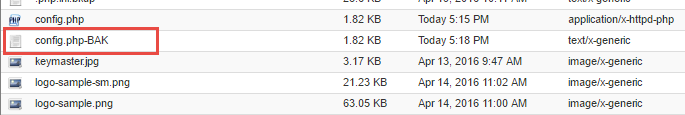 Confirm that the file is backed up