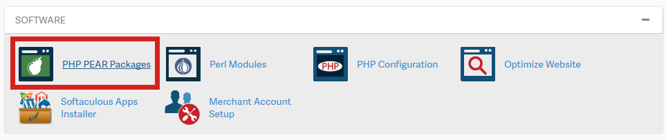 How to install PEAR PHP extensions via the cPanel | InMotion