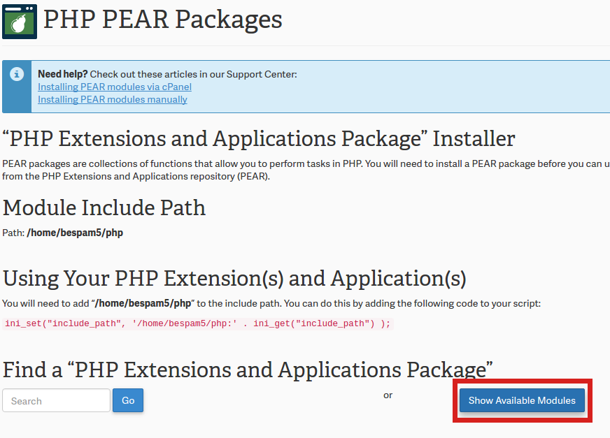 How to install PEAR PHP extensions via the cPanel | InMotion Hosting