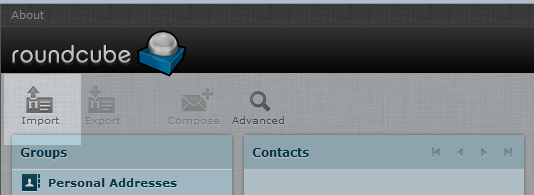 click the import icon