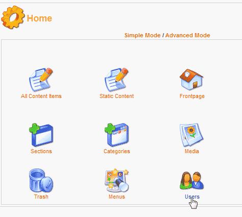 Select users Mambo