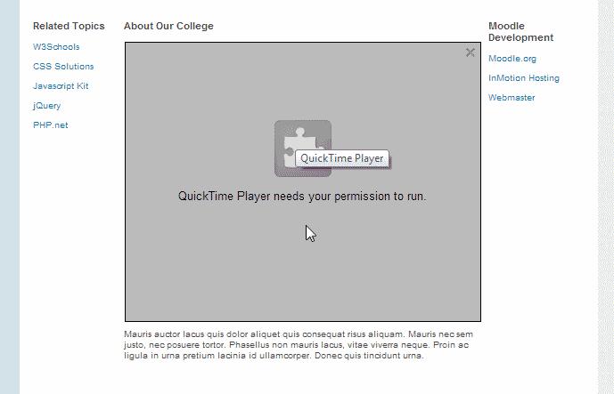 Plugin Missing Error Moodle