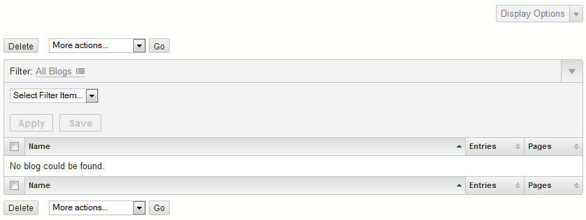 Search options that normally show