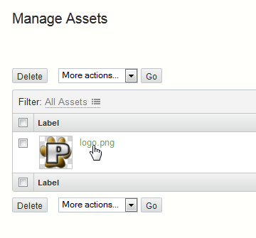 Manage Assets Movable Type