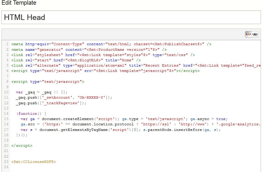 Google Analytics Code added (lines 8-20)