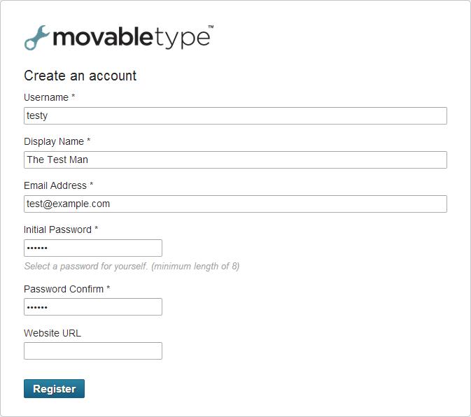 registration information page