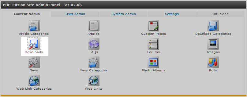 click donwload icon