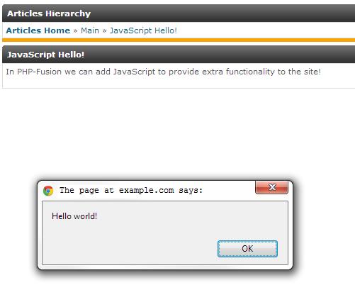 javascript pop up displayed