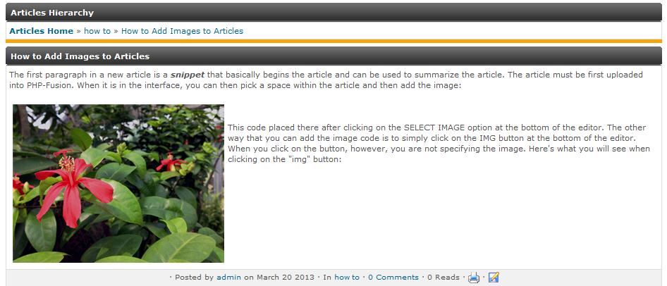 Sample Article with Image added