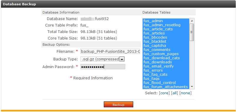 edit backup data