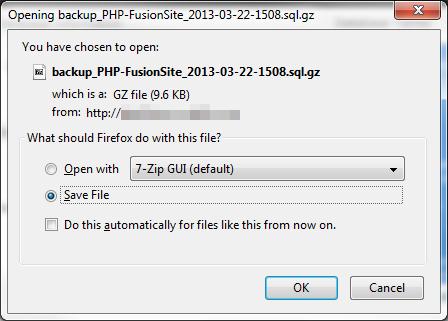 save file to local machine