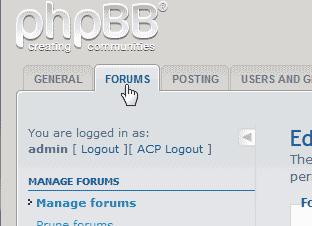 Select Forum Tab phpBB
