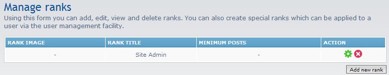 click add new rank button