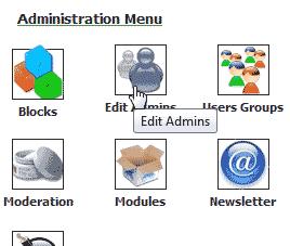 Click Edit Admis PHP-Nuke