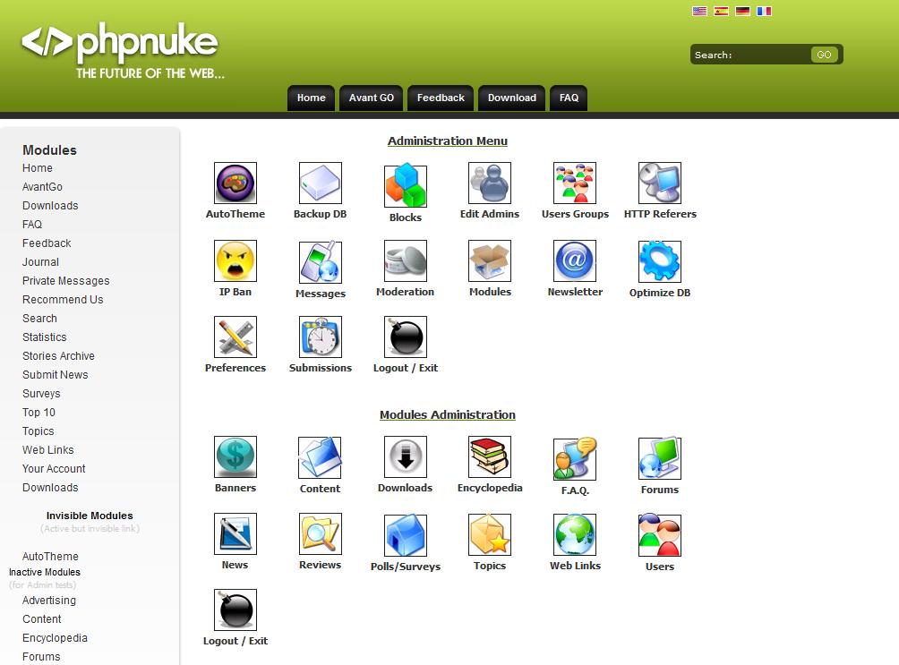 Login to PHP-Nuke