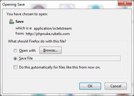 save file popup menu