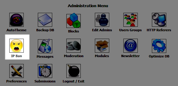 Icon for accessing the IP Ban option in PHP-Nuke Admin