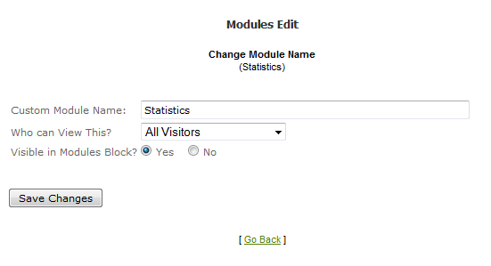 Options to show Web stats