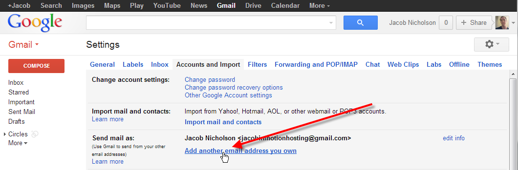 click on add another email address you own