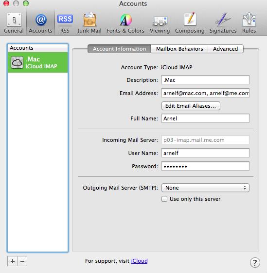 Mac mail illustrating mail account