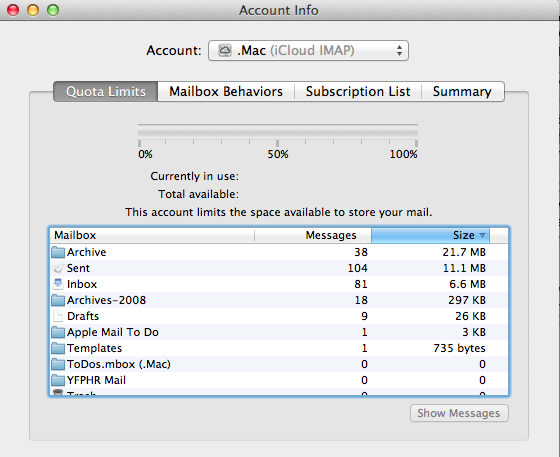 Subscribe IMAP Email folders in Mac Mail | InMotion Hosting