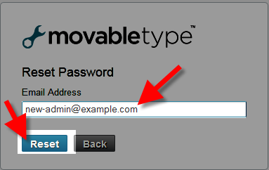 requesting an email for movable type password recovery