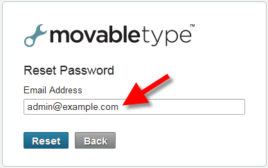 requesting a password reset email