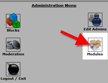 selecting modules settings