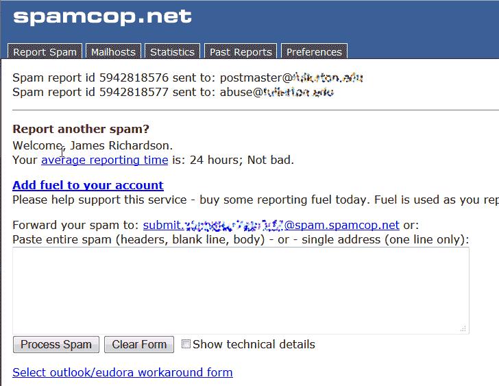 Sent Spam Cop
