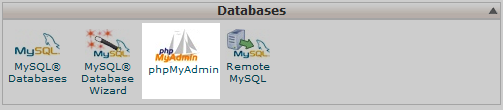 click on phpMyAdmin icon