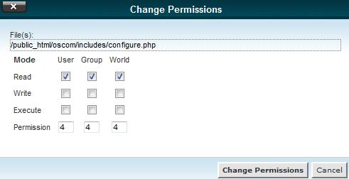 edu oscommerce 101 configure php changing permissions
