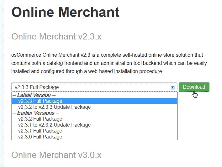 Download osCommerce 2.3.3