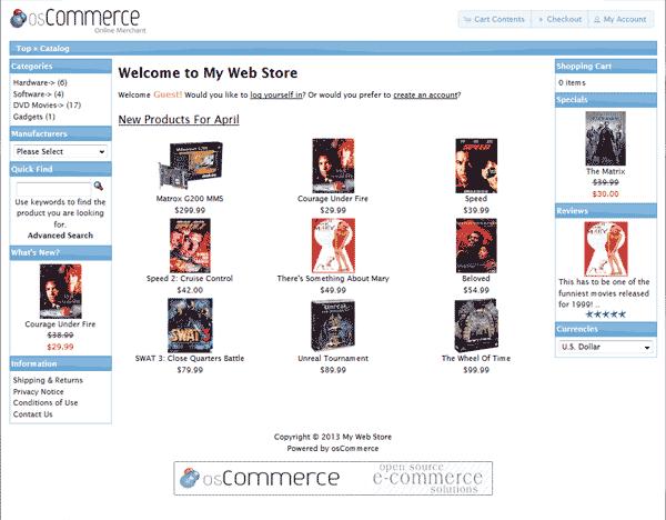 New osCommerce 2.3.3 site