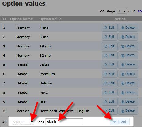 edu oscommerce 102 add attribute adding option value