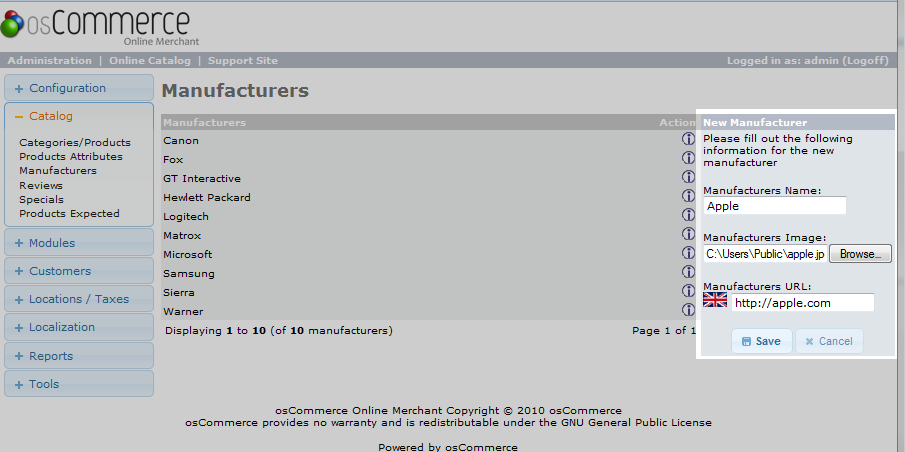 add manufacturer data