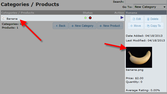 edu oscommerce 102 add product view of new product