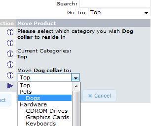 select the destination folder for the item