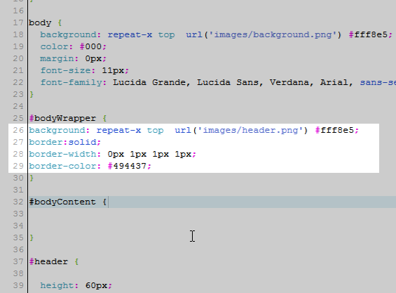 CSS code osCommerce
