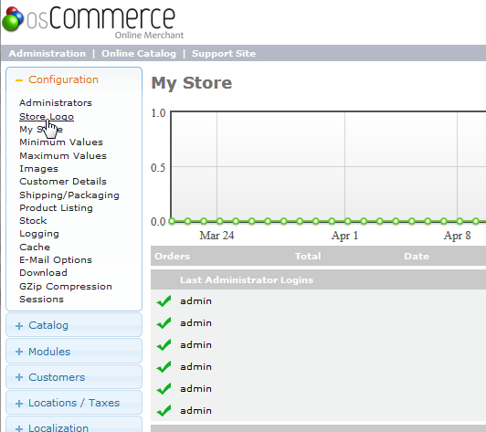 Store logo link osCommerce 2.3.3