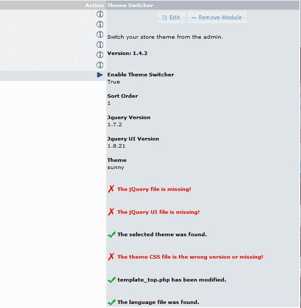 Installed switcher osCommerce 2.3.3