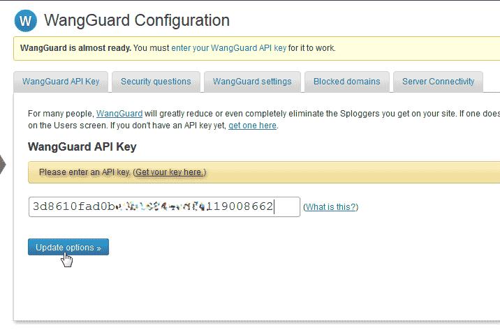 Update WangGaurd security plugin for WordPress
