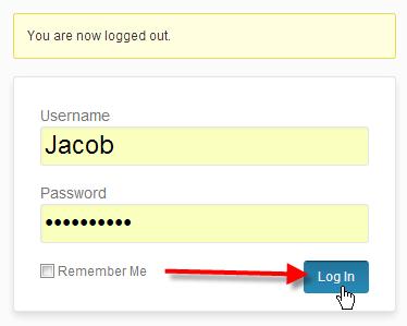 type in new admin username click log in