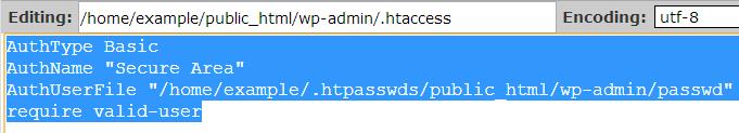 copy htaccess text
