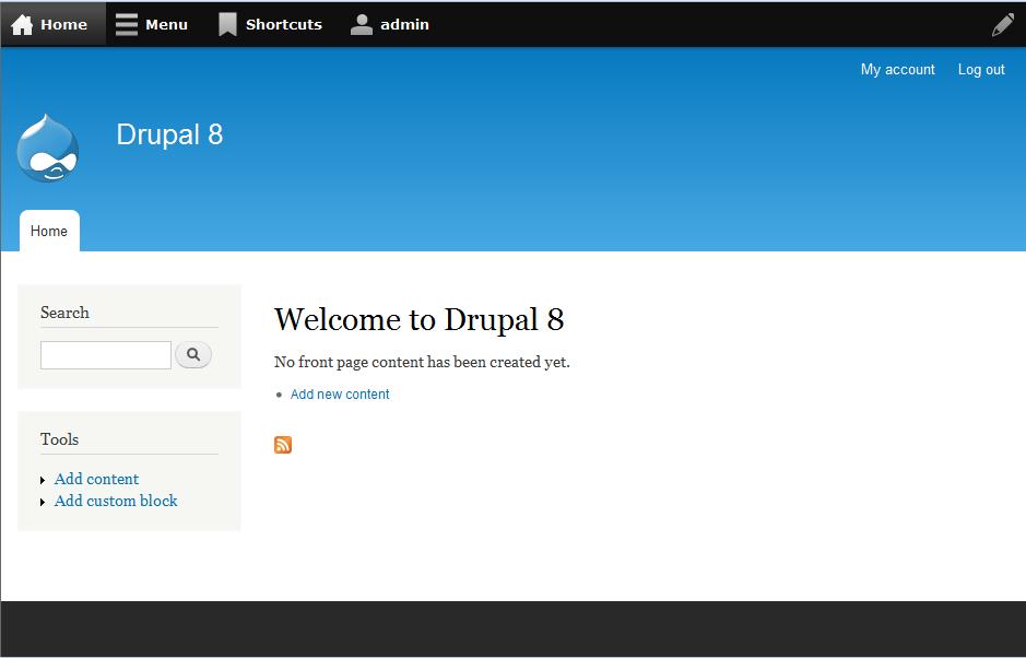 drupal 8 admin dashboard