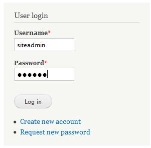 fill in the login fields