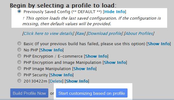 select custom build