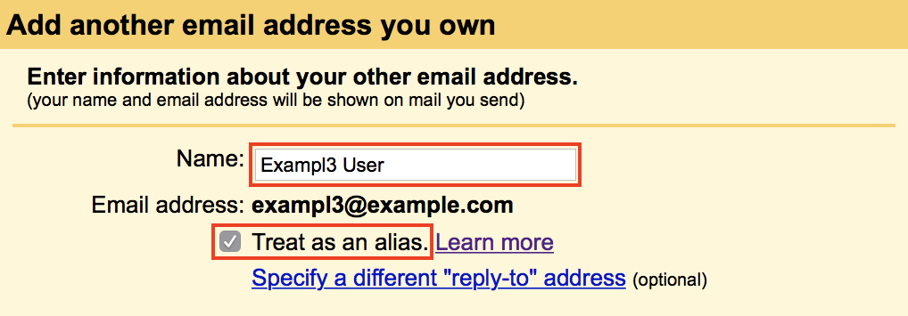 Add email for sending Next Step button highlighted.