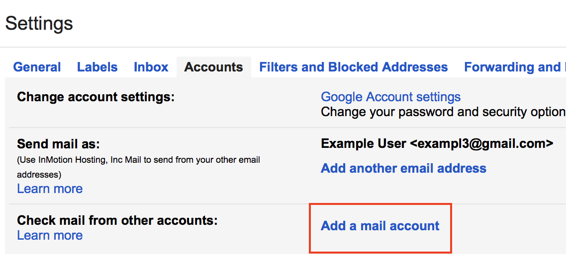 Setting up Gmail for POP3 and SMTP | InMotion Hosting