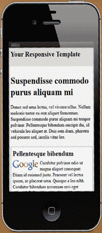Responsive template on iPhone