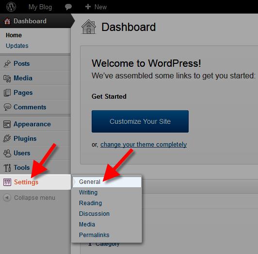 wordpress user registration general settings